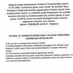 FUTBOL İL TEMSİLCİLİĞİ SEÇİMİ !!!